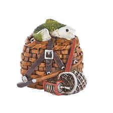 Miniature Garden Fish Basket Tackle   MG 510 Dollhouse  Fairy Gnome Garden