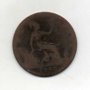 GREAT BRITAIN One Penny 1890