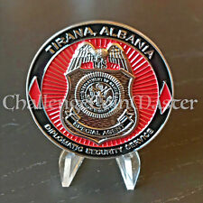 C48 Diplomatic Security Service Special Agent Tirana Albania Challenge Coin