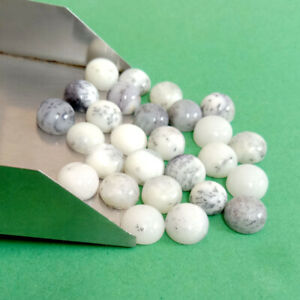 100 Pcs Natural Dendrite 8mm Round Cabochon Gemstone High quality Lucky gemstone