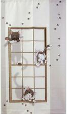 Noren Cute naughty cat Hanging Door Curtain Deco Polyester Japan