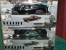 """SET of 2 ERTL 1968 FORD MUSTANG GT390  & DODGE CHARGER MODEL KIT 1/18 """"BULLITT"""""""