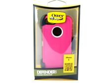 New OEM OtterBox iPhone 5 / 5S / SE Pink White Defender Case+Holster Belt Clip