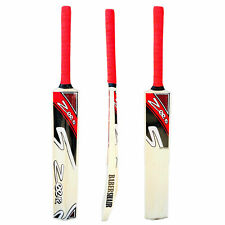 NEW Zeepk Tennis Tape Ball Cricket Bat Full Size Hand Made Kashmir Willow Red