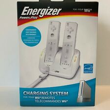 Energizer Power Play Charging System Charge Dock Station For Nintendo Wii White