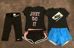 Girls Size Small Nike Clothes Outfits Lot! Shorts Shirts Capris SM