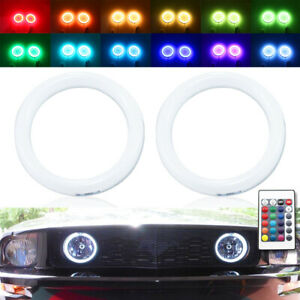 IR cotton RGB LED halo ring for Ford Mustang GT05-14 car fog light angel eye DRL