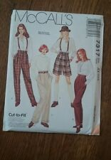 Sewing Pattern 7317 Womens Pants Shorts Size 4-8 McCall's