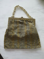ANTIQUE VICTORIAN ART DECO MICRO BEADED PURSE BAG 1926
