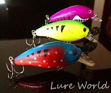 """3PCS 3"""" Fishing lure Crankbait Fat Rap Crank Bait Tackle Hook 1/3OZ Shine color"""