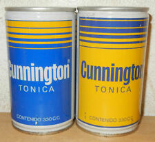2 CUNNINGTON Soda Steel Cans from SPAIN (33cl)