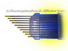 10 x Wolframelektrode Gold WL15 1,6 x 175 zum TIG WIG - Schweißen Wolframnadeln