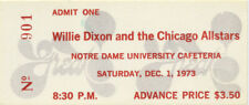 WILLIE DIXON 1973 TOUR UNUSED CONCERT TICKET