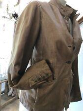 Beauriful Gap Tan Leather Jacket Size Small