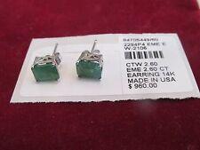 NEW 14k emerald earrings retail $960