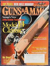 Magazine GUNS & AMMO September 2008 Jager RIFLE, SAVAGE Model 14 Classic RIFLE