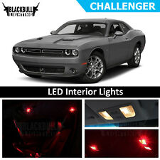 Red LED Interior Lights Accessories Package Kit fits 2015-2018 Dodge Challenger