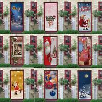 3D Weihnachten Türtapete Türaufkleber Türposter Türfolie Türbild Selbstklebend