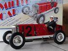 Gilbow Miller Race Car Tin Metal Clockwork Windup 1:8 Scale Cox Style Indy Racer