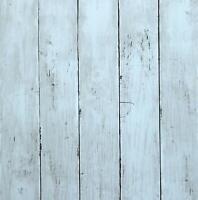 Blue Wood Self Adhesive Wallpaper Waterproof Contact Paper Peel and Stick Vinyl