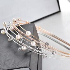 Fashion Women's Pearl Hairband Headband Crystal Hair Hoop Hair Accessories Gift