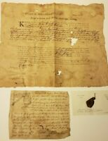 1783 NORTH CAROLINA LAND GRANT + SEAL FRAG 300 ACRES + SURVEY MAP+ PRE-STATEHOOD