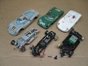 STROMBECKER  1/32 SCALE SLOTCAR JUNKYARD OF PARTS...Motors DO run