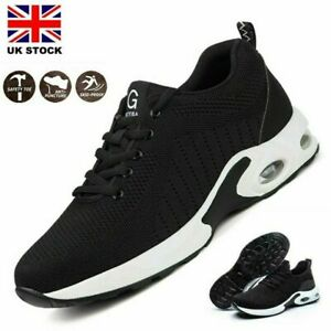 MENS WOMENS SAFETY WORK BUBBLE TRAINERS LIGHTWEIGHT STEEL TOE CAP BOOTS