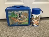 Vintage 1980s Aladdin Mickey Mouse Pluto Lookout Peak Plastic Lunch Box/Thermos