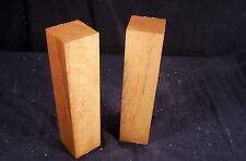 "2 Piece Dry Cherry 2x2x8"" Lathe Turning Craft Lumber Blank"