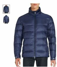 Saks Fifth Avenue - BLUE Moto Down Filled Puffer Jacket - XL MEN