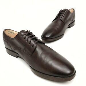 ✅❤️✅@ Cole Haan Plain Toe Grand Os Men's leather Oxford Brown  SZ 10.5 Dress EUC