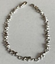 14k White Gold Elephant Ankle Bracelet  Fine Anklet chain  10 inches