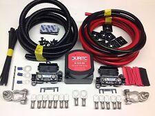 10mtr Split Carga relé Kit 140amp Durite Voltaje sentido Relay + 110amp Cable