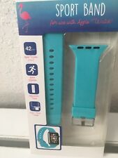 Vivitar Sport Band 42mm For Apple Series Watch1,2 & 3 Turquoise Color New In Box