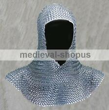 chain-mail coif zinc butted medieval armour chainmail hood larp reenctment