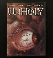 Unholy DVD Nicholas Brendon Horror Shocker 2007 Nazi Mysticism Occult Conspiracy