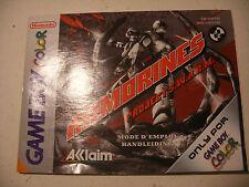 Retrogaming NINTENDO GBA Game Boy COLOR Notice ARMORINES manual France Nederland