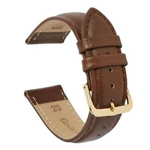 VintageTime Watch Straps - Buffalo Grain Padded Leather Replacement Watch Bands