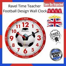 Ravel Time Teacher Football Design Wall Clock Red For Kids Bedroom