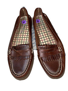 Sperry Top-Sider Brown Leather Avery Kiltie Penny Loafers 9294711 Womens Size 8