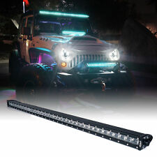 "Xprite C8 Series 240W 42"" Double Row LED Spot Light Bar with Blue Back Light"