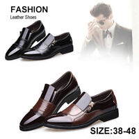 New Men's Leather Casual Shoes Business Formal Dress Pointed Toe Oxfords Loafers