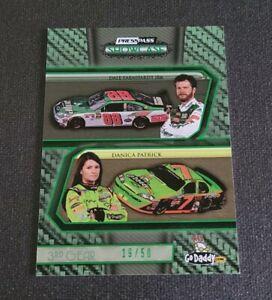 2010 Press Pass Showcase Green #31 Dale Earnhardt Jr./Danica Patrick CC SN 19/50