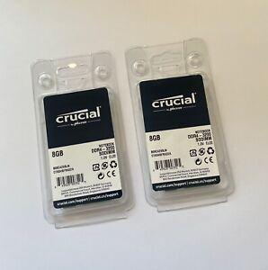 Crucial 16GB (2x 8GB) DDR4 3200 MHz SODIMM Laptop Memory Ram