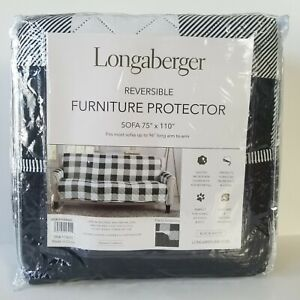 Longaberger Weyland Collection Reversible Furniture Protector Sofa Buffalo Check