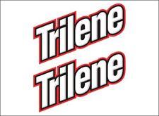 "Trilene Fishing Logo / Pair / 6"" Boat Gear Vinyl Vehicle Graphic Sticker Decals"