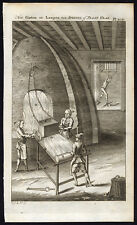 Antique Print-GLASS-MIRROR-CASTING-Buys-1770