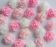 "3D Nail Art Acrylic Flowers ""Roses"" Pinks/White/Black/Red/Mix Fimo Craft x 10pcs"