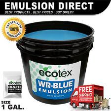 Ecotex WR-BLUE - Water Resistant Diazo Screen Printing Emulsion - 1 Gallon